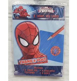 Amscan Spiderman Thankyous - 8ct.