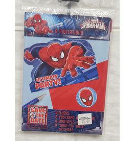 Amscan Spiderman Invites - 8ct.