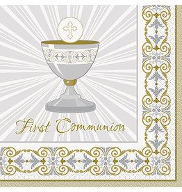 unique Radiant Cross 1st Communion Lun. Napkins - 16ct.