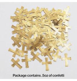 creative converting Gold Cross Confetti