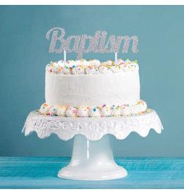 "creative converting Baptism Cake Topper - 7"""