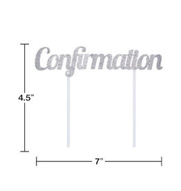 """creative converting Confirmation Cake Topper - 7"""""""