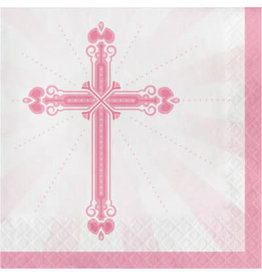 creative converting Pink Blessings Lun. Napkins - 36ct.