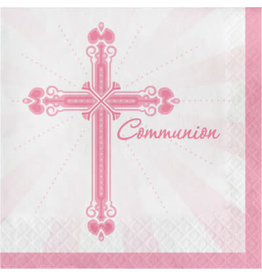 creative converting Pink Blessings Communion Lun. Napkins - 36ct.