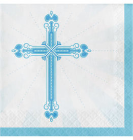 creative converting Blue Blessings Lun. Napkins - 36ct.