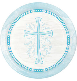"""creative converting Blue Divinity 7"""" Plates - 8ct."""