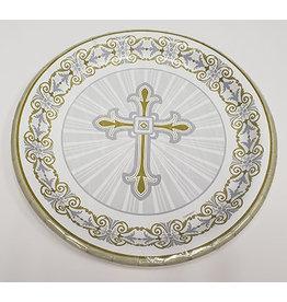 "unique Radiant Cross 7"" Plates - 8ct."