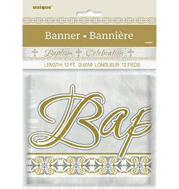 unique Baptism Foil Banner - 12ft.