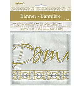 unique Communion Foil Banner - 12ft.