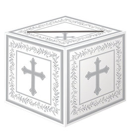 "Amscan Religious Cross Card Box - 9"" x 9"""
