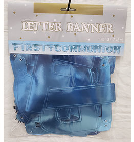 Amscan Blue 1st Communion Banner - 8ft.