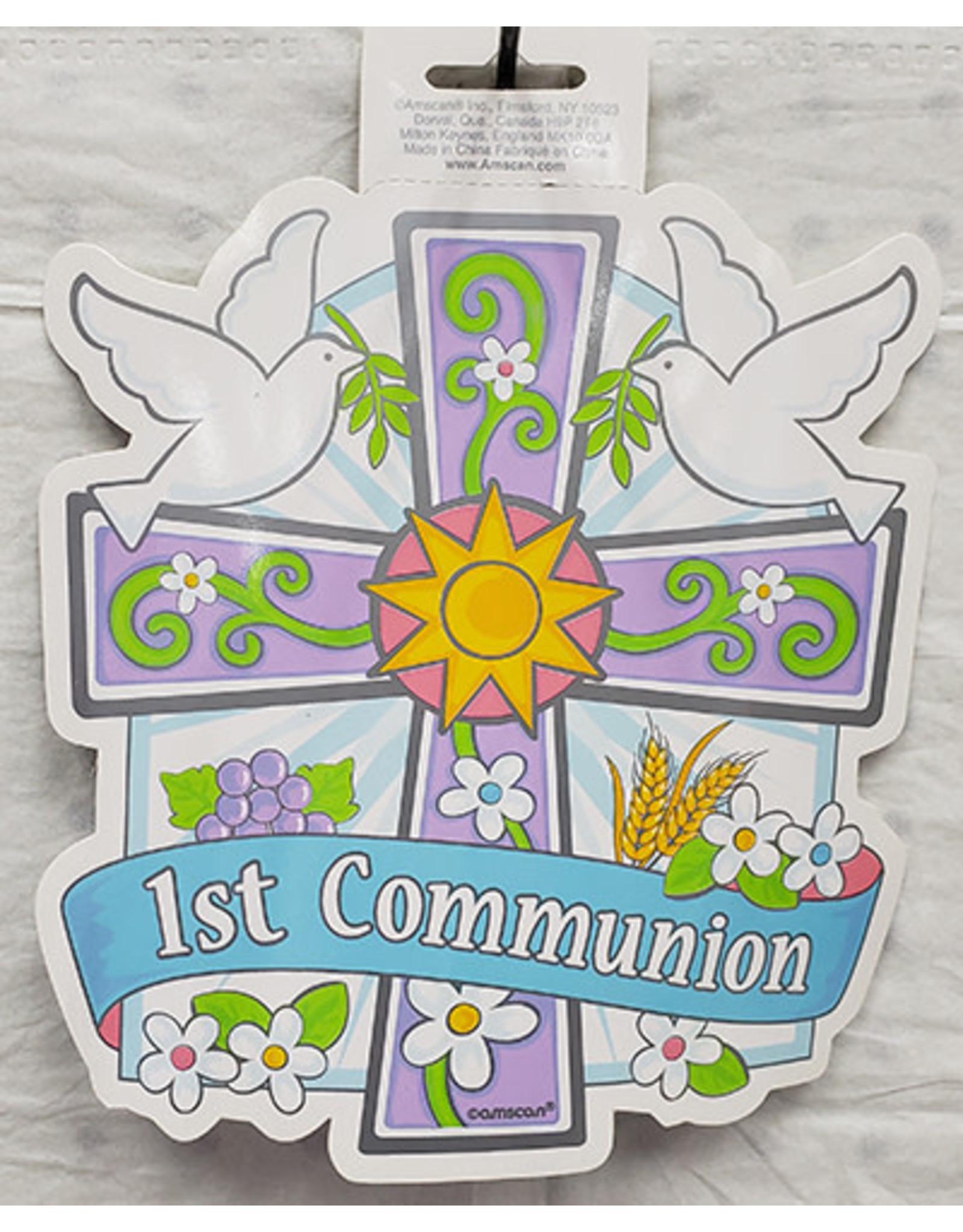 "Amscan 8"" 1st Communion Cutout - 1ct."