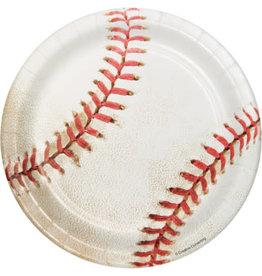 "creative converting Baseball 7"" Lunch Plate - 8ct."