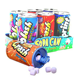 KidsMania Soda Can Fizzy Candy 6 Pack