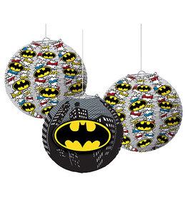 """Amscan Batman 9.5"""" Lanterns - 3ct."""
