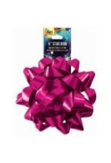 """SKD Party by Forum 6"""" Hot Pink Star Bow - 1ct."""