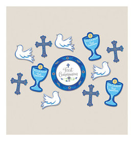 Amscan Blue Communion Day Cutouts - 12ct.