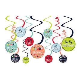 Amscan Reason To Celebrate Swirls - 12ct.
