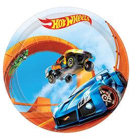 "Amscan Hot Wheels Wild Racer 7"" Plates - 8ct."