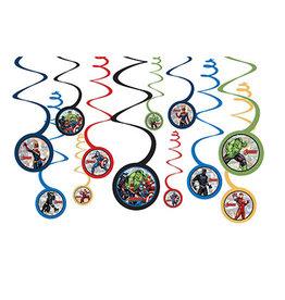 Amscan Marvel Avengers Swirl Decorations - 12ct.