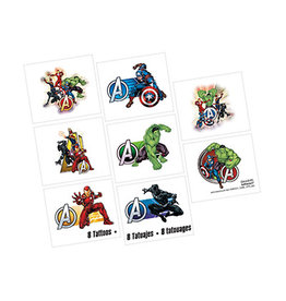 Amscan Marvel Avengers Powers Unite Tattoos - 8ct.