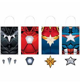 Amscan Avengers Powers Unite Kraft Bags - 8ct.