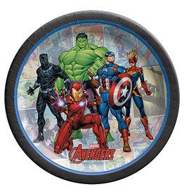 "Amscan Marvel Avengers Powers Unite 7"" Plates - 8ct."