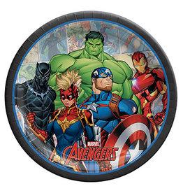"Amscan Marvel Avengers Powers Unite 9"" Plates - 8ct."