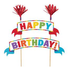 Amscan Happy Birthday Cake Picks