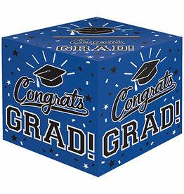 "Amscan Blue Grad Cardholder Box - 12"" x 12"""
