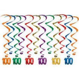 "Beistle ""100"" Hanging Whirls - 12ct."