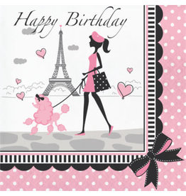 creative converting Party In Paris Birthday Lun. Napkins - 18ct.