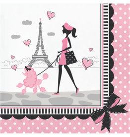 creative converting Party In Paris Lun. Napkins - 18ct.