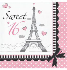 creative converting Party In Paris Sweet 16 Lun. Napkins - 18ct.