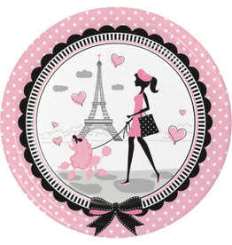 """creative converting Party In Paris 9"""" Plates - 8ct."""
