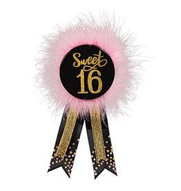 Amscan Blush Sweet 16 Birthday Award Ribbon - 1ct.