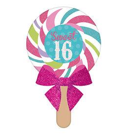 Amscan Sweet 16 Lollipop Invites - 8ct.