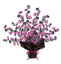 """Beistle Sweet 16 Pink/Black Burst  Centerpiece - 15"""""""