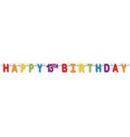 Beistle Happy 13th Birthday streamer