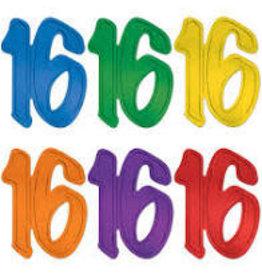 Beistle 16  Foil Silhouette - 1ct. Asst. Colors