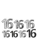 "Beistle ""16"" Silver/Black Birthday Cutouts - 7ct."