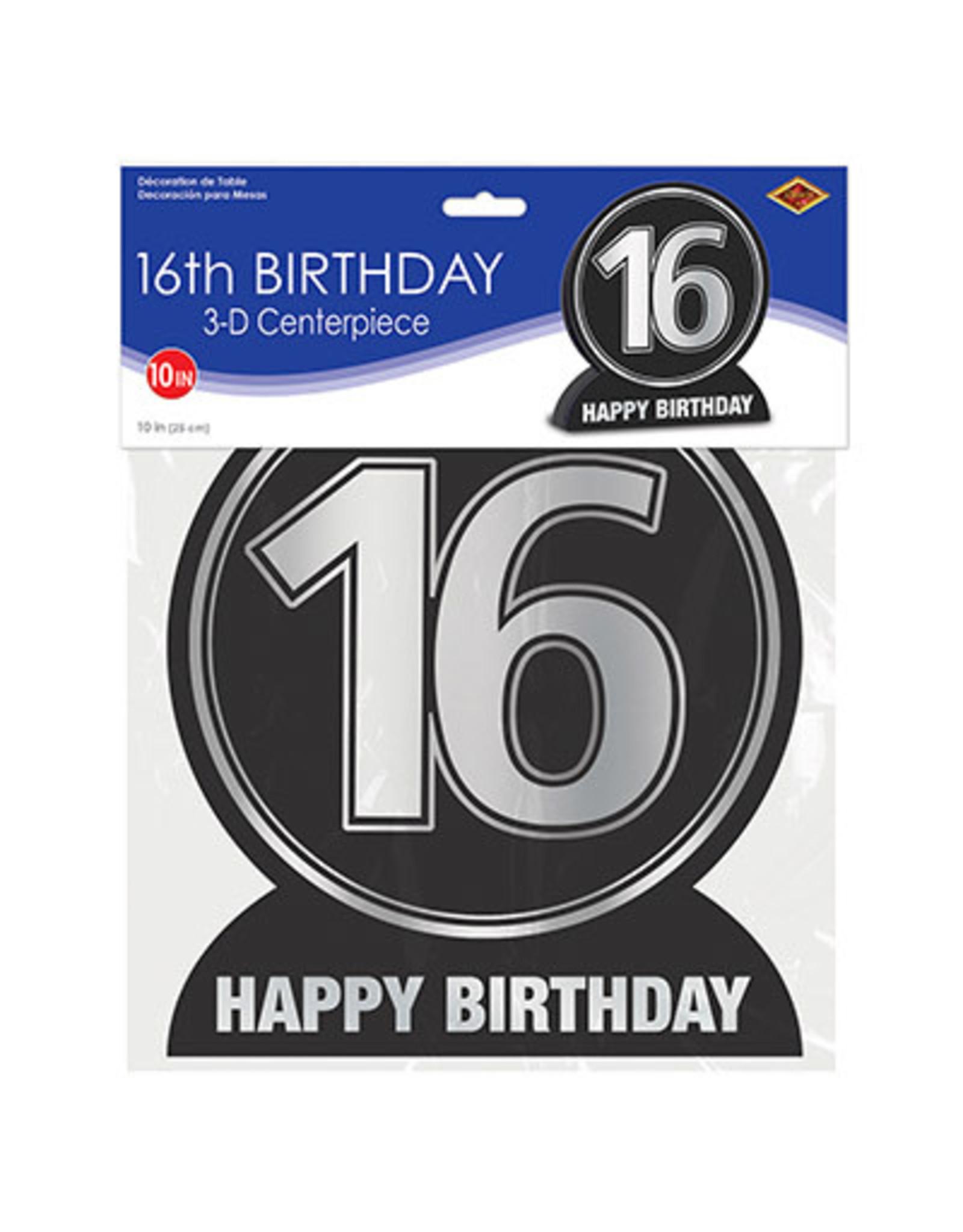 """Beistle """"16"""" 3D Birthday Centerpiece"""