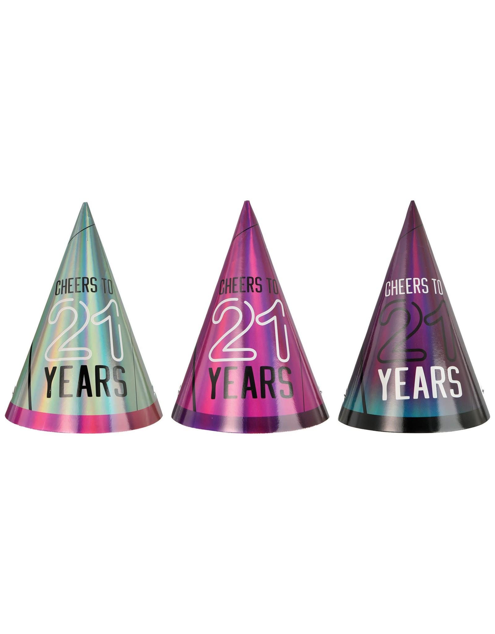 Amscan Finally 21 Birthday Cone Hats - 6ct.