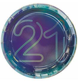 "Amscan Finally 21 7"" Plates - 8ct."