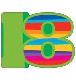 creative converting Birthday Stripes 18th Invites - 8ct.