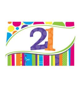 creative converting Bright And Bold 21st Invites - 8ct.
