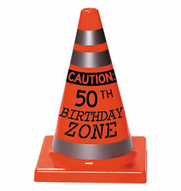 Amscan Caution 50th Bday Zone Cone - 1ct.