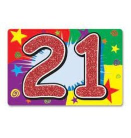 Beistle Glittered 21 Hanging Sign - 1ct.