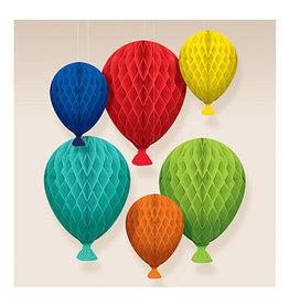 Amscan Birthday Balloon Honeycomb Decorations - 6ct.