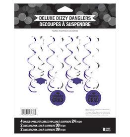 creative converting Purple Graduation Dizzy Danglers - 8ct.